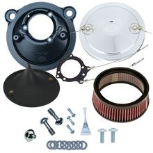 Stealth Air Cleaner Kit with Chrome Muscle Cover for 2007-2017 XL Models