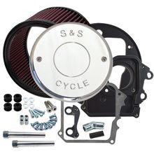 Air Cleaner Kit for 2014-'17 Indian<sup>®</sup> Models with S&S<sup>®</sup> Nostalgic Script Chrome Cover