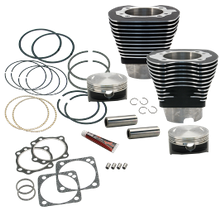 "4 1/8"" Bore Cylinder & Piston Kit For S&S V117 Engines For 1984-99 Big Twins - Wrinkle Black Powder Coat Finish"