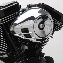 Stealth Air Cleaner Kit with Chrome Airstream Cover for 1999-2006 HD<sup>®</sup> Big Twin Models With Stock CV Carb and 2007-2010 Softail<sup>®</sup> CVO<sup>®</sup> Models
