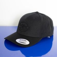 S&S<sup>®</sup> Cycle Black on Black Classic 5-Panel Premium Curved Visor Snapback
