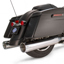 "Mk45 Slip-On Mufflers Chrome with Chrome Tracer End Caps - 4.5"" for 1995-'16 Touring Models"
