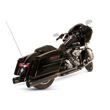 S&S Cycle El Dorado 2-2 50 State Exhaust System, Black with Highlight Machined High Gloss Black Tracer Endcaps for 2009-'16 Touring