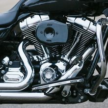 Stealth Air Cleaner Kit with Black Tribute Cover for 2008-2017 HD<sup>®</sup> Touring Models and 2016-2017 Softail<sup>®</sup>Models