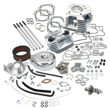 "80FLSS 80"" Hot Set Up Kit<sup>®</sup> With Super Stock<sup>®</sup> Heads For 1993-'99 Carbureted Big Twins - Natural Aluminum Finish"