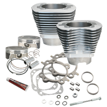 "117""' Big Bore Cylinder Kit for 2007-'17 Big Twins  (except '17 touring models) - Silver Powder Coat Finish"