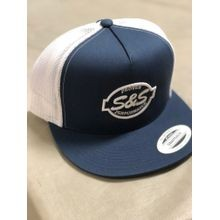 S&S<sup>®</sup> Cycle 5 Panel Classic Trucker Hat Navy