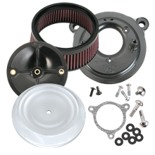 S&S<sup>®</sup> Stealth Air Cleaner Kit With S&S<sup>®</sup> Chrome Dished Bobber Air Cleaner Cover for 2008-'16 HD<sup>®</sup> Tri-Glide and CVO<sup>®</sup> Stock-Bore Throttle By Wire Models