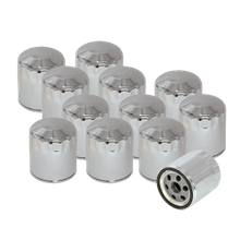12 Pack of Chrome Oil Filters for HD<sup>®</sup> Sportster<sup>®</sup>, HD<sup>®</sup> Evolution<sup>®</sup>, and Shovelhead Models