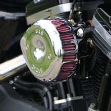 S&S<sup>®</sup> Chrome Mini Teardrop Stealth Air Cleaner Kit for 2007-'18 xl
