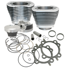 "106"" Big Bore Cylinder  Kit for 2007-'17 HD<sup>®</sup> Big Twins (except '17 touring) - Silver Powder Coat Finish"