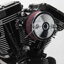 S&S<sup>®</sup> Stealth Air Cleaner Kit With Chrome Muscle Cover for 1999-'06 HD<sup>®</sup> Carbureted Big Twins and 2007-'10 Softail<sup>®</sup> CVO<sup>®</sup> Models - Chrome