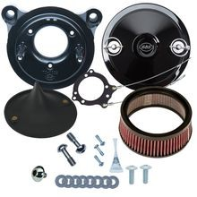 Stealth Air Cleaner Kit with Black Muscle for 2008-'16 Touring and '16-'17 Softail<sup>®</sup> Models