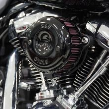 S&S<sup>®</sup> Gloss Black Mini Teardrop Stealth Air Cleaner Kit for 2008-'16 HD<sup>®</sup> Touring,'16-'17 Softail<sup>®</sup> Models