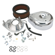 S&S<sup>®</sup> Teardrop Air Cleaner Kit For S&S<sup>®</sup> Super E & G Carburetors For 1993-'99 HD<sup>®</sup> Big Twins and 1991-'03 Sportster<sup>®</sup> Models.