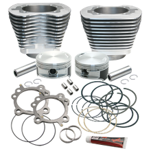 "Replacement 3-7/8"" Bore Cylinder & Piston Kit For S&S 106"" Stroker Kits For 1999-'16 Big Twins - Silver Power Coat Finish"
