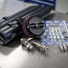 Stage II Kit with MR103CE Cams and Black Grand National mufflers for 2008-16 Touring models