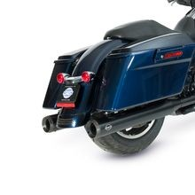 "Grand National Slip-On Mufflers Black with Black End Caps - 4"" for 1995-16 Touring Models, 2009-19 Tri Glide<sup>®</sup> Models"