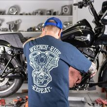 Wrench Ride Repeat Shovel T-Shirt