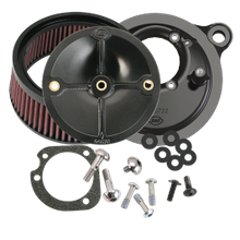 S&S<sup>®</sup> Stealth Air Cleaner Kit Without Cover For All Fuel Injected 2008-'17 HD<sup>®</sup> Models Originally Equipped With Throttle by Wire, except CVO<sup>®</sup> and Tri-Glide<sup>®</sup>
