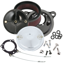 S&S<sup>®</sup> Stealth Air Cleaner Kit With S&S<sup>®</sup> Muscle Air Cleaner Cover For 1993-'99HD<sup>®</sup> Big Twin Models With CV Carburetor