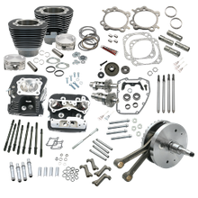 "124"" Hot Set Up Kit<sup>®</sup> With S&S Cylinder Heads For 2000-'06 HD<sup>®</sup> Balanced Big Twins - Wrinkle Black"
