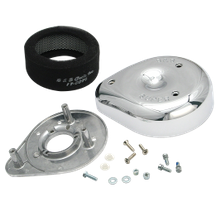 S&S<sup>®</sup> Teardrop Air Cleaner Kit For 1966-'84 HD<sup>®</sup> Big Twins and 1966-'85 Sportster<sup>®</sup> Models With S&S<sup>®</sup> L Carbs or Stock Butterfly Carburetors.