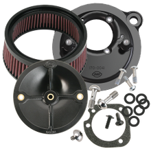 S&S<sup>®</sup> Stealth Air Cleaner Kit Without Air Cleaner Cover For for 1991-'06 HD<sup>®</sup> Carbureted XL Sportster<sup>®</sup> Models