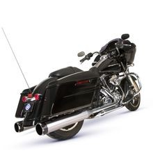 S&S Cycle El Dorado 2-2 50 State Exhaust System, Chrome with High Gloss Black Thruster Endcaps for 2009-'16 Touring