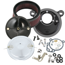 S&S<sup>®</sup> Stealth Air Cleaner Kit With Muscle Cover For 1991-'03 HD<sup>®</sup> Sportster<sup>®</sup> Models With S&S<sup>®</sup> Super E or G Carburetor - Chrome Finish