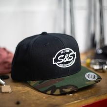 S&S<sup>®</sup> Cycle Classic Snapback with Camo Visor