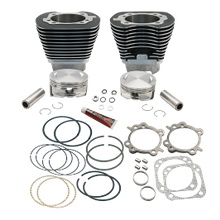 "4 1/8"" Bore Cylinder & Pistons Kit for 124"" Hot Set Up KIt<sup>®</sup> For 1999-'06 with 89cc or 91cc Heads - Black Wrinkle Powder Coat Finish"
