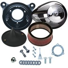 Stealth Air Cleaner Kit with Chrome Air Stream for 2008-'16 Touring and '16-'17 Softail<sup>®</sup> Models