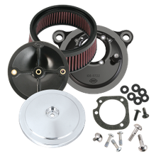 S&S<sup>®</sup> Stealth Air Cleaner Kit With Chrome Domed Bobber Cover for 1999-'06 HD<sup>®</sup> Carbureted Big Twins and 2007-'10 Softail<sup>®</sup> CVO<sup>®</sup> Models - Chrome