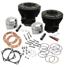 "74"" 3-7/16"" Bore Cylinder and Standard Compression Piston Kit for 1966-'78 74"" HD<sup>®</sup> Big Twins - Gloss Black Finish"