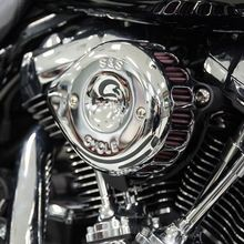 S&S<sup>®</sup> Chrome Mini Teardrop Stealth Air Cleaner Kit for 2017-'18 HD<sup>®</sup> M8 Models