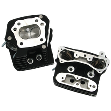 S&S<sup>®</sup> Performance Replacement Low Compression 82cc Cylinder Heads For 1984-'99 HD<sup>®</sup> Big Twins - Wrinkle Black Powdercoat Finish