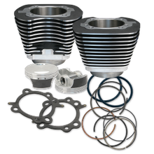 "106"" Big Bore Cylinder Kit for 2007-'17 HD<sup>®</sup> Big Twins (except '17 touring) - Wrinkle Black Powder Coat Finish"