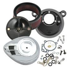 S&S<sup>®</sup> Stealth Air Cleaner Kit With Air Stream Teardrop Cover For 1993-'99 HD<sup>®</sup> Big Twin Models With S&S<sup>®</sup> Super E or G Carburetor - Chrome Finish