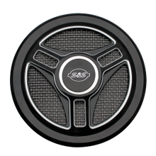 Tri-Spoke Air Cleaner Cover in Gloss Black with Machined Highlights for all Stealth Applications