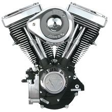 V80 Complete Assembled Engine - Wrinkle Black