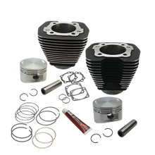 "88"" 3 5/8"" Big Bore Cylinder and Piston Kit for 1984-'99 Big Twins with Stock Heads - Black Wrinkle Finish"