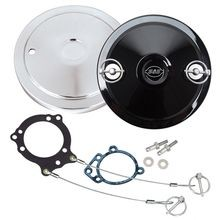Muscle Cover Kit For S&S<sup>®</sup> Stealth Air Cleaners - Chrome or Engraved Logo Gloss Black