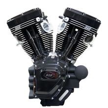 T124 Black Edition Longblock Engine for Select 2007-'16 HD® Twin Cam 96®, 103®, 110® Models - 640 GE Cams