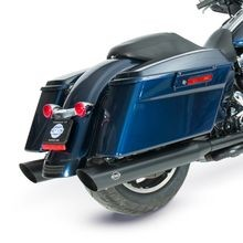 "Slash Cut Slip-On Mufflers Black with Slash Down End - 4"" for 1995-16 Touring Models, 2009-19 Tri Glide<sup>®</sup> Models"