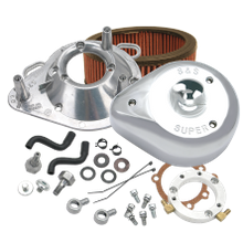 S&S<sup>®</sup> Teardrop Air Cleaner Kit For 1993-'06 HD<sup>®</sup> Big Twins with Stock CV carburetors  - Chrome