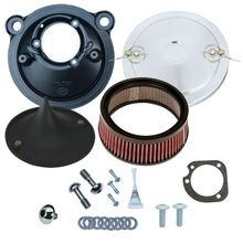 Stealth Air Cleaner Kit with Chrome Air Stream Cover for 2007-2017 XL Models