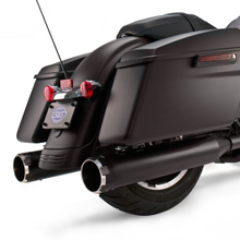 "Mk45 Slip-On Mufflers Ceramic Black with Highlight Machined Black Thruster End Caps - 4.5"" for 1995-'16 Touring Models"