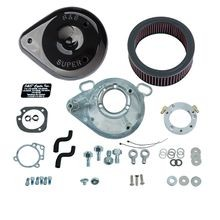S&S<sup>®</sup> Teardrop Air Cleaner Kit for 2001-'17 HD<sup>®</sup> Stock EFI Big Twin (except Throttle By Wire and CVO<sup>®</sup>) Models - Gloss Black