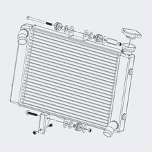 Radiator with Cap and Mounting Hardware